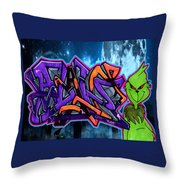 The Grinch Flavs Throw Pillow