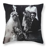 The Groom Pines For The Bridesmaid Throw Pillow