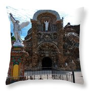 The Grotto Of Redemption In Iowa Throw Pillow