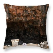 The Grotto Of The God Pan Throw Pillow