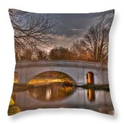 The Grove Bridge On The Grand Union Canal  Throw Pillow