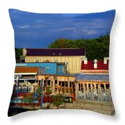 The Growling Gator View Throw Pillow