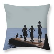 The Groyne - Stand And Stare Throw Pillow