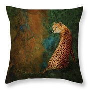 The Guard At The Temple Throw Pillow