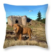 The Guard Of The Ruins 22 Throw Pillow