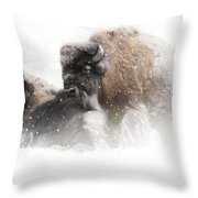 The Guardian II Falling Snow Throw Pillow