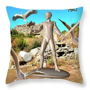 The Guardian Of The Ruins 1 Throw Pillow
