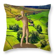 The Guardian Of The Valley Throw Pillow