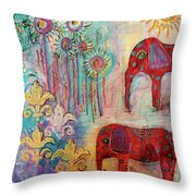 The Guardians Of Night And Day Throw Pillow