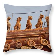 The Guardians Of The Forbidden City Throw Pillow