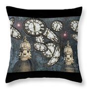 The Guardians Of The Time Stopped Throw Pillow