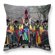 The Guards Of Seoul. Throw Pillow