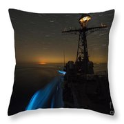 The Guided-missile Cruiser Uss San Jacinto Throw Pillow