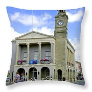 The Guild Hall At Newport Throw Pillow
