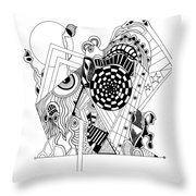 Guitar Man...   - L'homme Guitare... Throw Pillow