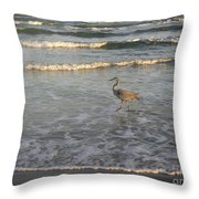 The Gulf At Twilight - Going My Way Throw Pillow