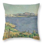 The Gulf Of Marseilles Seen From L'estaque Throw Pillow