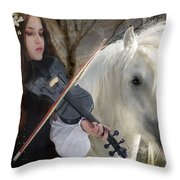 The Gypsy Violin Throw Pillow