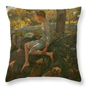 The Half Holiday Throw Pillow