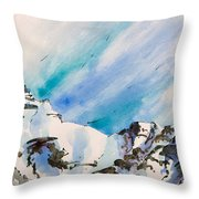 The Half Way Throw Pillow