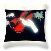 The Hand And The Violin Throw Pillow