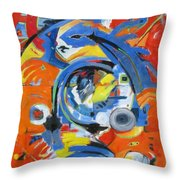 The Hand Moves Throw Pillow