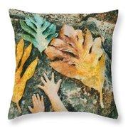The Hands 2 Throw Pillow