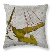 The Hanging Girl I Throw Pillow by Sandra Hoefer