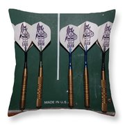 The Hans Darts Throw Pillow