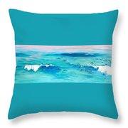 The Happy Beach Throw Pillow