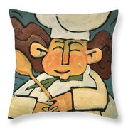 The Happy Chef Throw Pillow