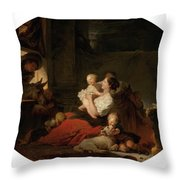 The Happy Family Throw Pillow