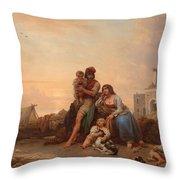 The Happy Family Throw Pillow