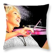 The Happy Fiddler Throw Pillow