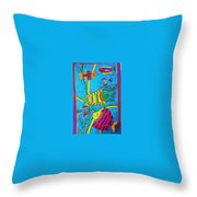 The Happy Fishes Throw Pillow