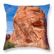 The Happy Rock Throw Pillow