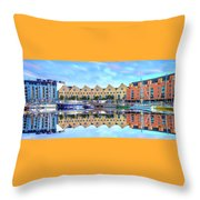 The Harbor At Galway Throw Pillow