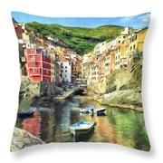The Harbor At Rio Maggiore Throw Pillow