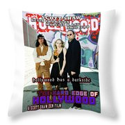 The Hard Edge Of Hollywood Throw Pillow