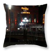 The Hard Rock At The Inner Harbor Throw Pillow