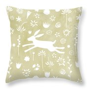 The Hare In The Meadow Throw Pillow
