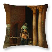 The Harem Guard  Throw Pillow