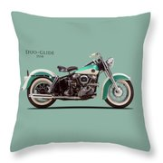The Harley Duo-glide 1958 Throw Pillow