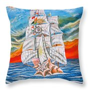 The Harvest Conchquest Throw Pillow