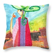 The Harvest Of Oranges Throw Pillow