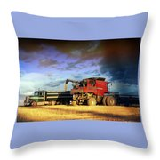 The Harvest Run Throw Pillow