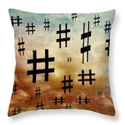 The Hashtag Storm Throw Pillow