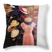 The Hat Rack Throw Pillow
