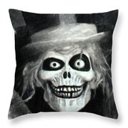 The Hatbox Ghost Throw Pillow