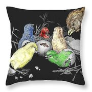 The Hatching Of Chicks. Throw Pillow
